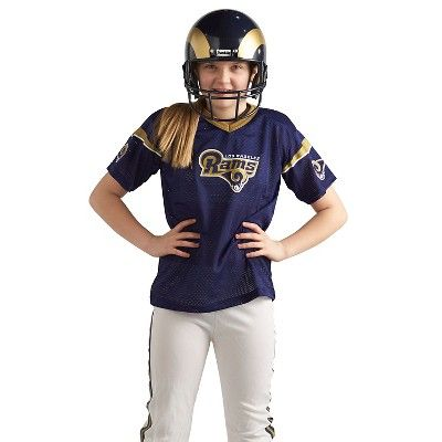 Franklin Sports NFL Deluxe Los Angeles Rams Uniform Set-Medium, Size: Medium