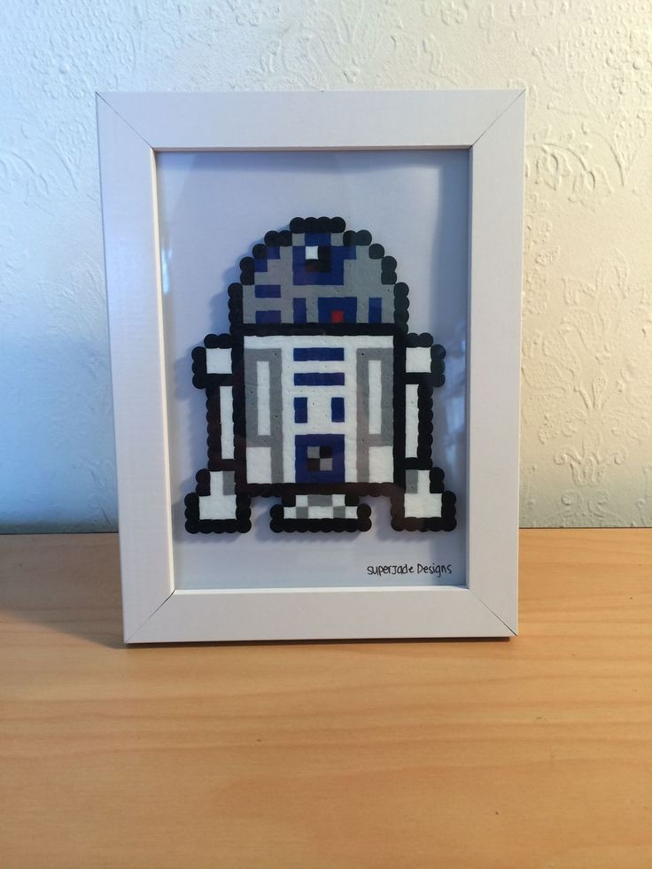 R2D2 - Framed. via SuperJade Designs. Click on the image to see more!