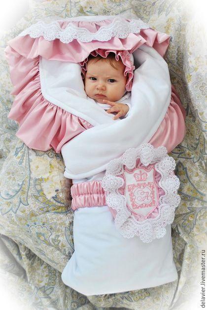 """Для новорожденных, ручной работы. Ярмарка Мастеров - ручная работа. Купить Зимнее/демисезонное/летнее одеяло на выписку """"Елисей-4. Розовый"""". Handmade."""