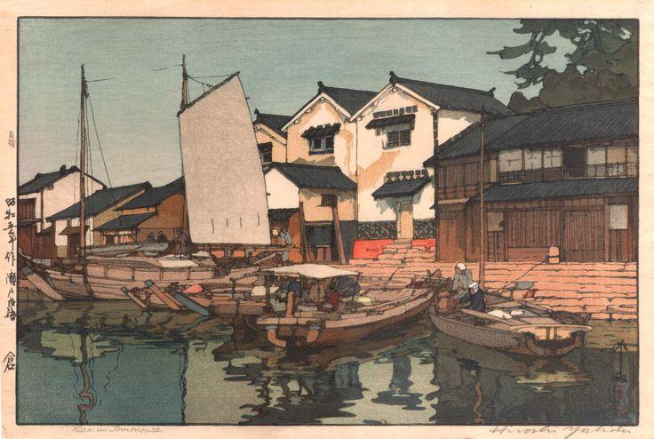 "Hiroshi Yoshida - ""Warehouses"" (1089×731)"