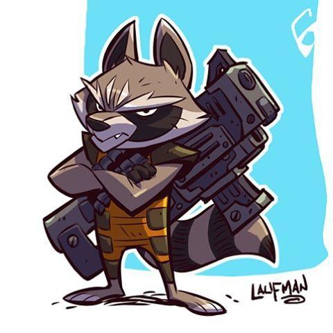 Rocket Raccoon! #gaurdiansofthegalaxy #marvel #rocketraccoon