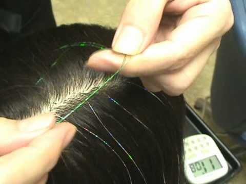how to hair tinsel