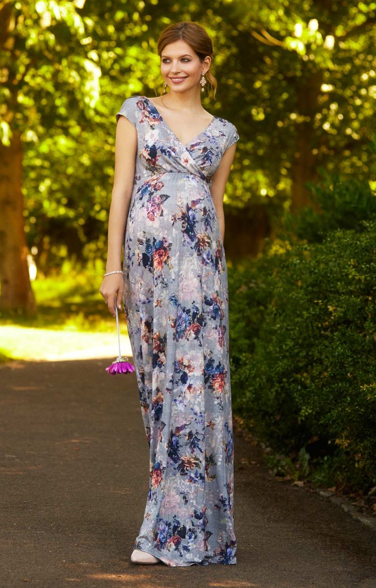 Floral Maxi Maternity Dress Vintage Bloom - Maternity Wedding Dresses, Evening Wear and Party Clothes by Tiffany Rose.