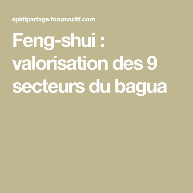Feng-shui : valorisation des 9 secteurs du bagua