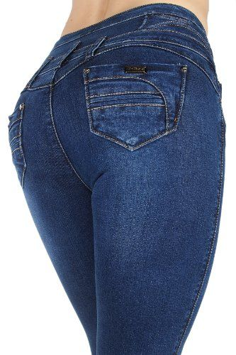 YM5003 - High Rise Colombian Style Stretch Denim, Butt Lift, Skinny Jeans