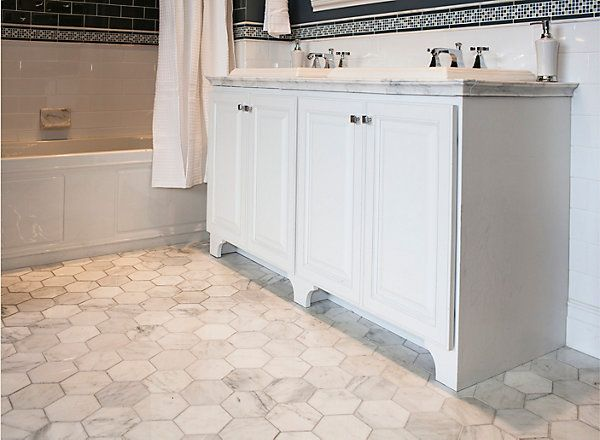 112 Best Images About Flooring On Pinterest The Floor Flooring Ideas And Tile Flooring: marble hex tile bathroom floor