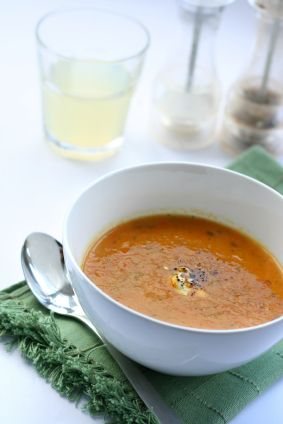 Carrot Soup with Baby Spinach and Goat Cheese - Recipes - GBD Healthy Times