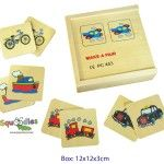 This Wooden Memory Game will help keep little kids happily amused.  Match the brightly coloured transport pictures to make a pair!  RRP$12.50 each http://squoodles.co.nz/products/wooden-memory-game-wooden-toys-for-kids/