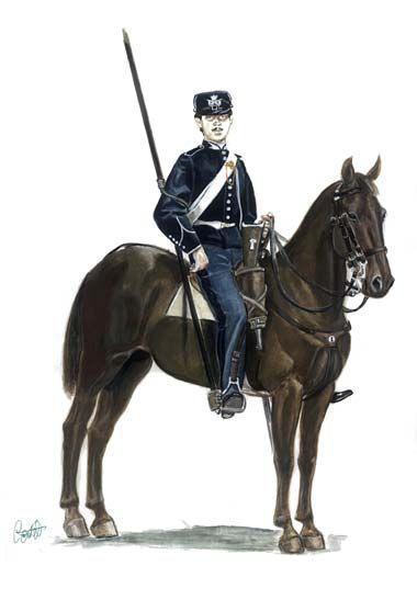 1860-1863 Soldato del Reggimento Lancieri di Novara Piccola montura