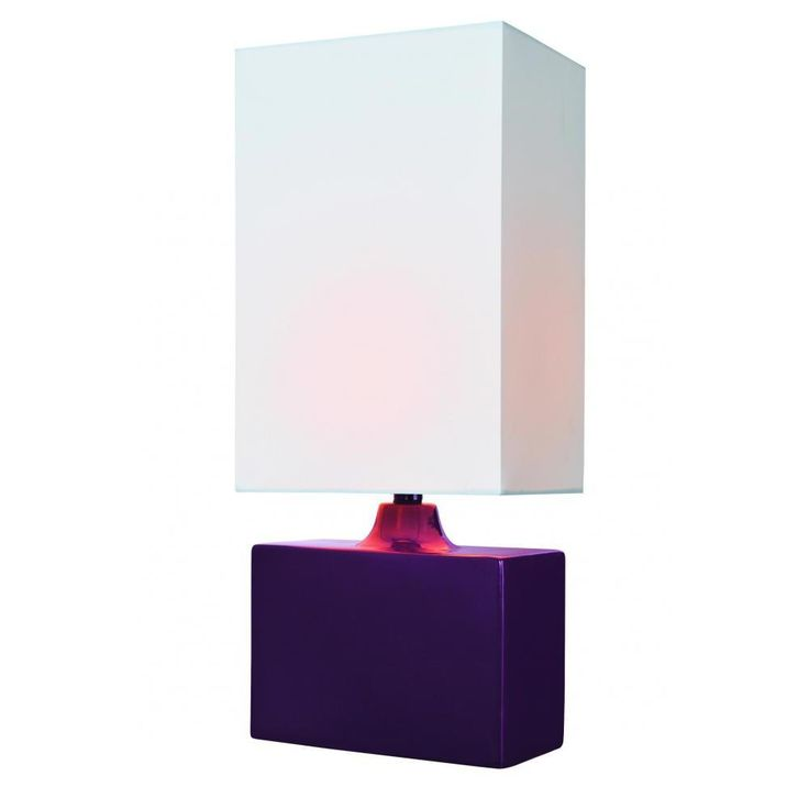 Filament Design 17.5 in. Purple Table Lamp