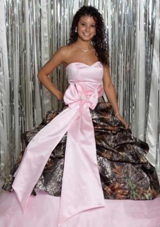 Pink camo wedding gowns