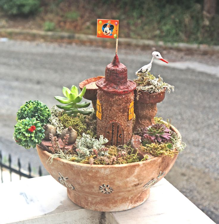 A DIY miniature garden project
