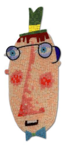 silly head mosaic