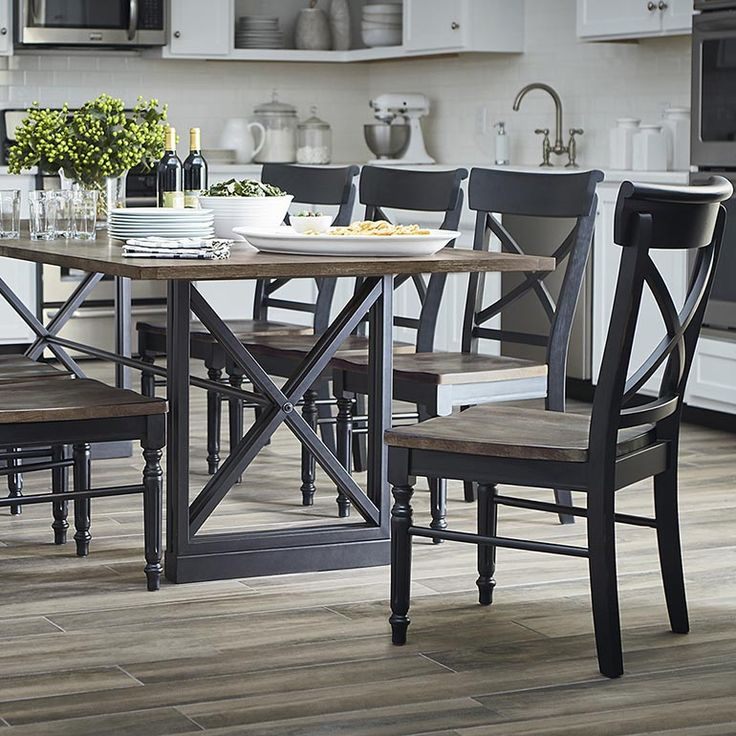 Custom Dining 101 Table with Metal Base