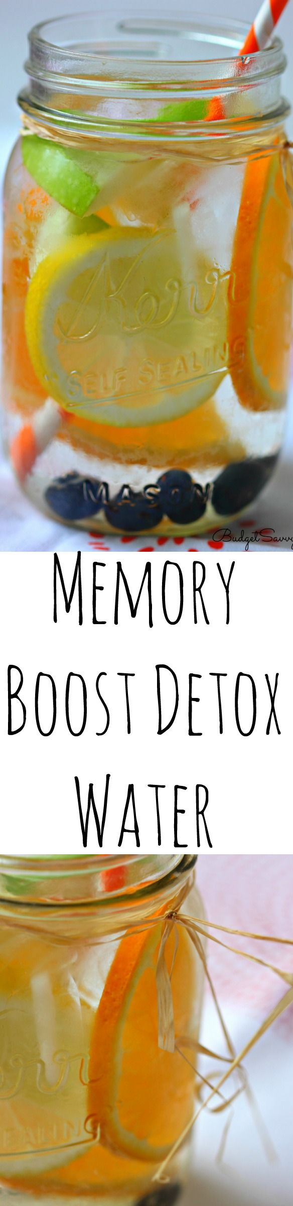 Memory Boost Detox Water Recipe - the flavor of this detox water is amazing. This really is one of the easiest recipes