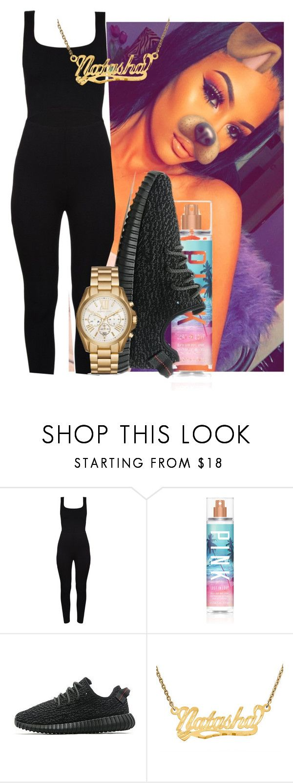 """okaaaay"" by gvlden-bvbx ❤ liked on Polyvore featuring Victoria's Secret, adidas Originals and Michael Kors"