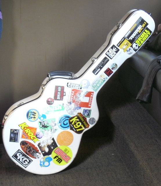 Cool guitar case stickers