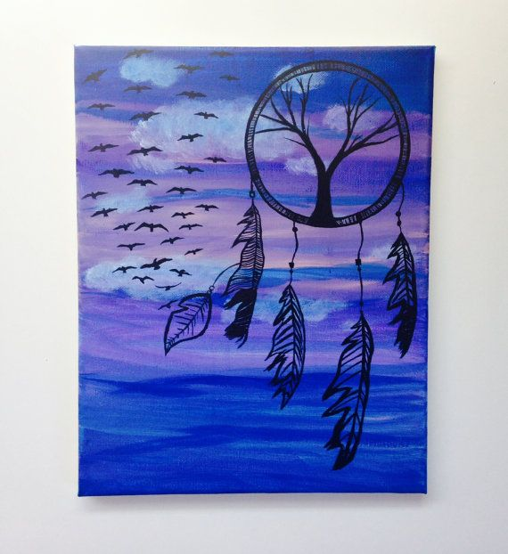 Dream Catcher Painting Cheap Wall Art Dream by DayDreamARTx