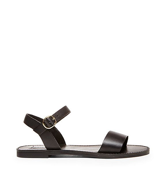 Your search for 'classic little sandal' ends here. Shop DONDDI by Steve  Madden for a simple pair of wide strap sandals that goes with every summer  outfit!