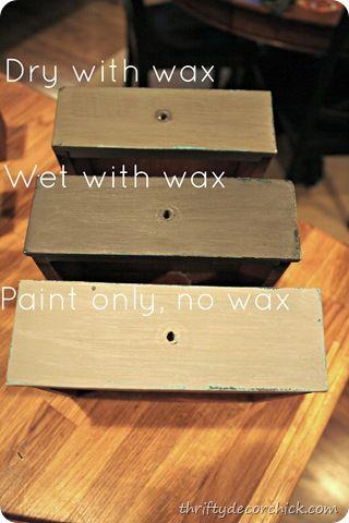 CeCe Caldwell wax - chalk paint techniques