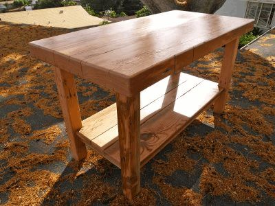 recycled pallet kitchen island...solution for lack of counter space?