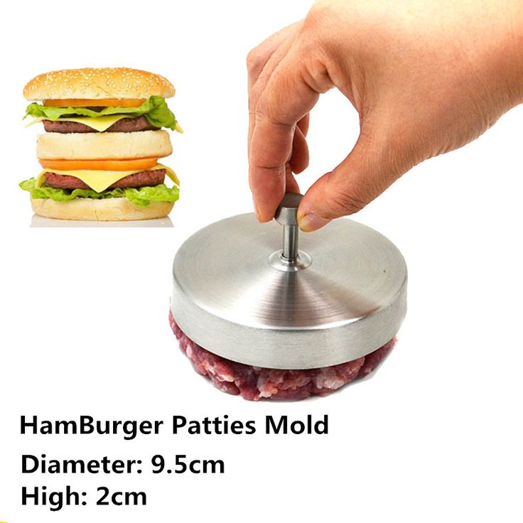 New 3.7'' Stainless steel Hamburger press Burger Maker Stuffed Burger press Pizza Hamburger Patties Sandwich Meat Burger Mold