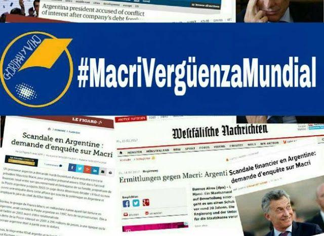 #MACRIVERGUENZAMUNDIAL Y: #JUICIOPOLITICOAMACRI SON TENDENCIA EN LAS REDES SOCIALES   Los diarios del mundo señalan a Macri con la corrupción Mientras los medios de comunicación de todo el mundo reflejan el escándalo del Correo Argentino arden las redes sociales con las consignas#JuicioPoliticoAMacri y #MacriVergüenzaMundial .Una promesa de campaña de Macri era devolver a Argentina al mundo. Después de más de un año de gestión el Gobierno cumplió con esa idea. La imagen presidencial da…