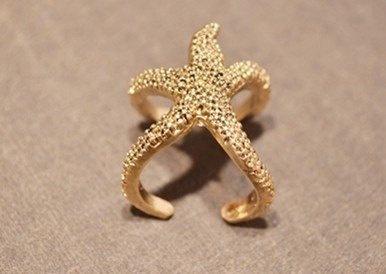 Cute Starfish Ring