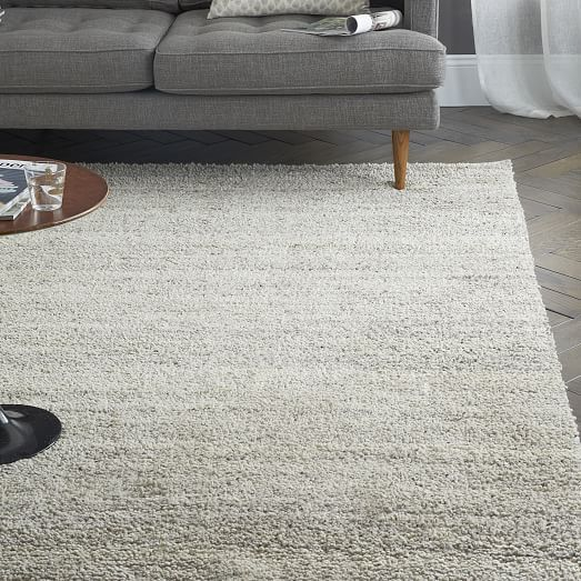 Steven Alan Solid Wool Shag Rug - Oatmeal | West Elm.$799 *special for 9x12. Like the simplicity and texture of this.
