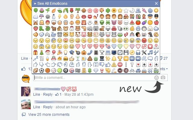ايموجي الفيسبوك الجديدة