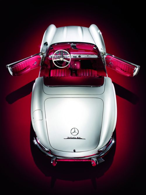 Mercedes-Benz 300SL Roadster | More here: http://mylusciouslife.com/stylish-home-luxury-garage-design/