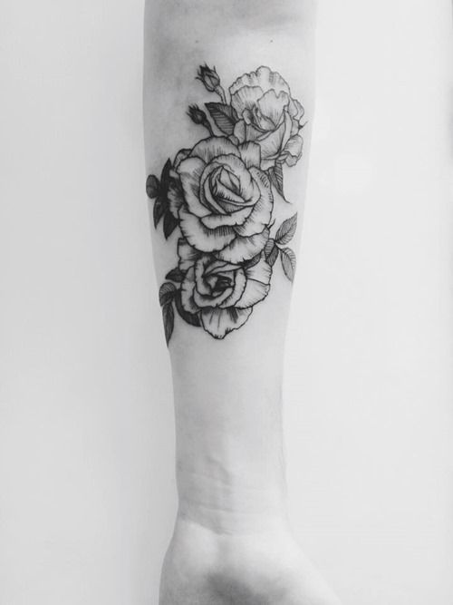 Forearm Rose Tattoo for Lady