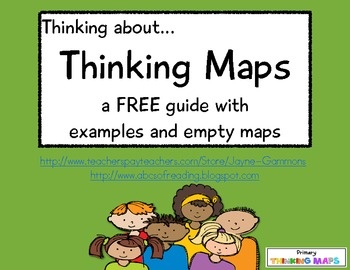 Thinking about...Thinking Maps! This is a FREE guide to eight maps: Circle, Bubble, Double-Bubble, Flow, Multi-Flow, Brace, Tree, and Bridge. The...