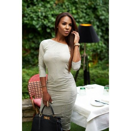 Bodycon dress, elegant grey dress, wmwear