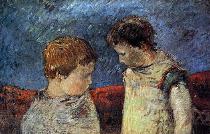 Aline Gauguin and one of her Brothers, 1883, Paul Gauguin
