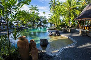 Sinalei Reef Resort & Spa, Samoa - 2014/2015 Special - Bartercard Travel. From the moment you enter the stunning, lush, naturally landscaped surroundings and step under the artisan- carved entrance way, you will know you have discovered a sanctuary like no other. Enquire now: http://www.bartercardtravel.co.nz/Contact+Us.html travel@bartercard.co.nz 0800 228 722
