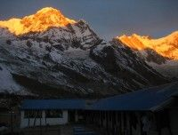 Morning View from ABC during November.. http://www.nepalmotherhousetreks.com/abc-trekking-through-poon-hill.html