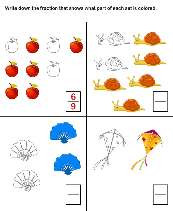 Printables Worksheets For Grade 1 About Fraction 1000 ideias sobre fractions worksheets no pinterest worksheet 8 math grade 1 worksheets
