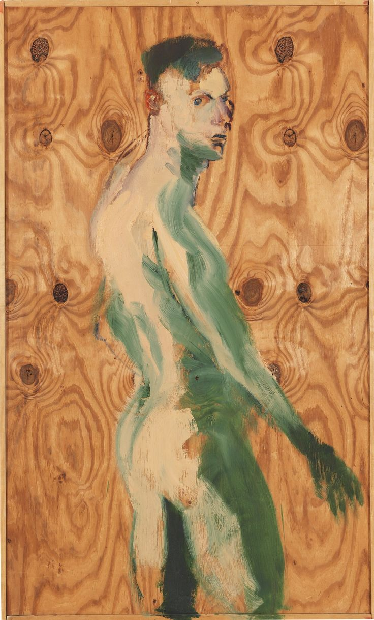 Rainer Fetting (German, b. 1949), Self Portrait, 1989. Oil on panel, 203 x 122 cm.