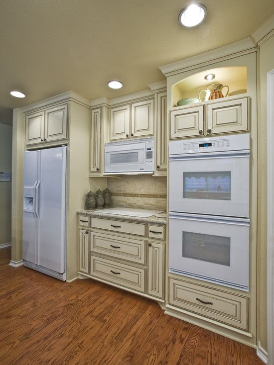 what not to do these are the type of cabinets i m looking for my husband does not want stainl on kitchen cabinets not white id=96957