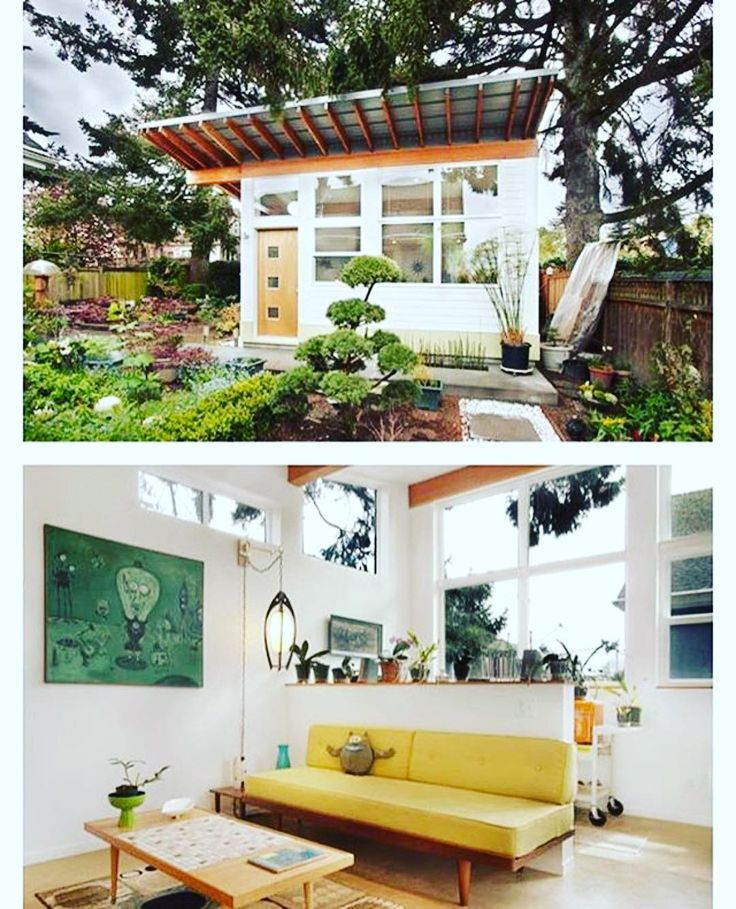"""Adorable #tinyhouse PT. 2 #Repost @tinyhousemag  The """"Orchid Studio designed and built by #Seattle based First Lamp Architects @firstlamparchitects #interiors #interiordesign #architecture #decoration #interior #home #design #camper #bookofcabins #homedecor #decoration #decor #prefab #diy #campervan #compactliving #fineinteriors #cabin #shed #tinyhomes #tinyhouse #cabinfever #FABprefab #tinyhousemovement #airstream #treehouse #cabinlife"""