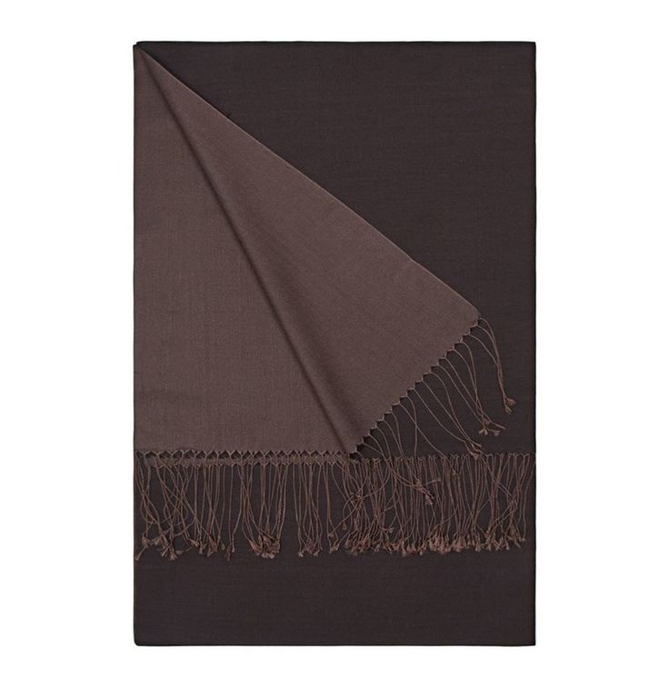 Aker Double-Sided Silk Shawl #332 - Brown