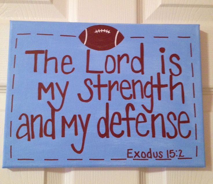 """Exodus 15:2  New International Version (NIV)  2 """"The Lord is my strength and my defense[a];  he has become my salvation.  He is my God, and I will praise him, my father's God, and I will exalt him."""