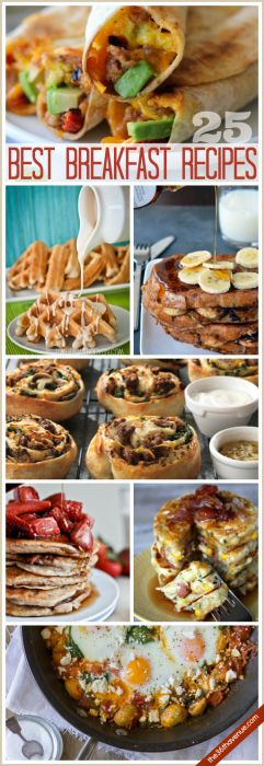 One of our favorite things to have is breakfast for dinner. Today I am sharing 25 Delicious Breakfast Recipes that I am sure you are going to love. These are perfect for the weekend and Holidays or make them when you are in need of a quick meal any day of the week. I am warning you… you are...