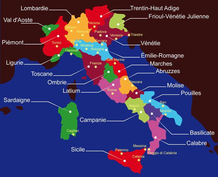 Gusto d'Italia - L'Italie du goût - Les 20 régions italiennes