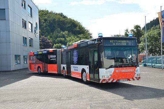 Das wohl ungewöhnlichste Fahrzeug der #Feuerwehr in Deutschland: ein Linienbus, der im Ernstfall zum #Feuerwehrfahrzeug wird!