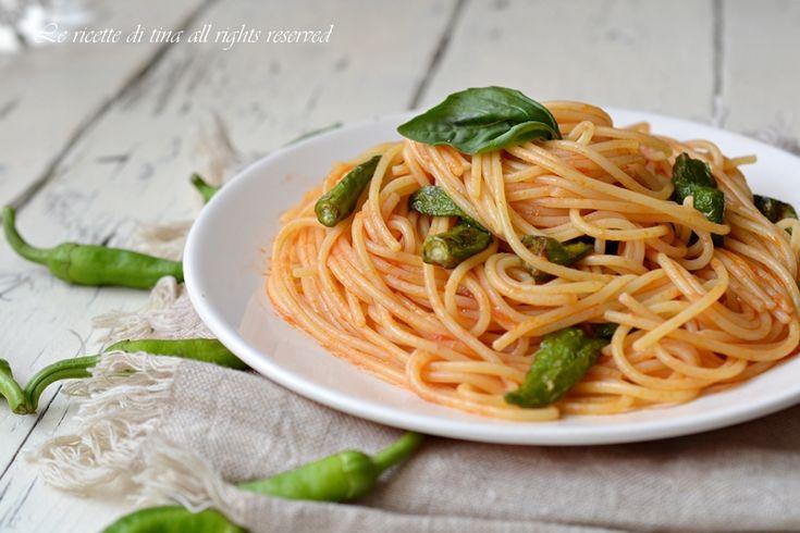 Spaghetti con sugo ai friggitelli