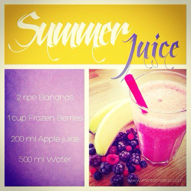 Summer berry juice