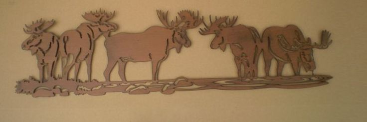 """30 x8.8"""" MOOSE METAL WALL DECOR  COUNTRY COTTAGE CABIN DECOR WALL ART"""