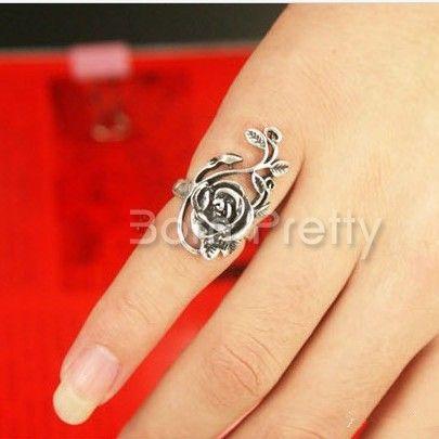 $0.99 Pretty Flower Shaped Ring Retro Ring - BornPrettyStore.com